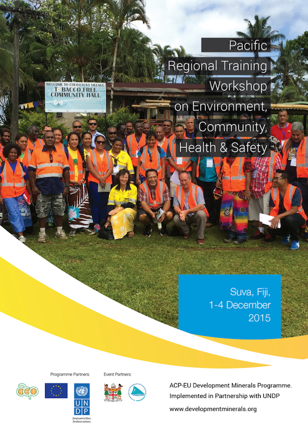 Pacific Regional Training Workshop on Environment, Community, Health & Safety