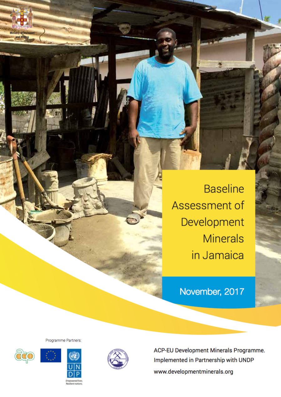Baseline Assessment of Development Minerals in Jamaica